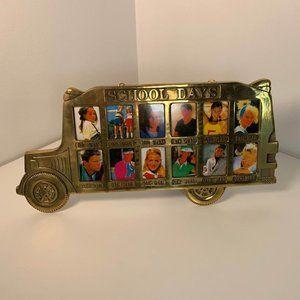 Picture Frame Vintage Brass School Grades 1-12